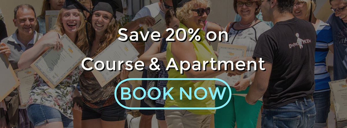Save 20% on Course & Accommodation