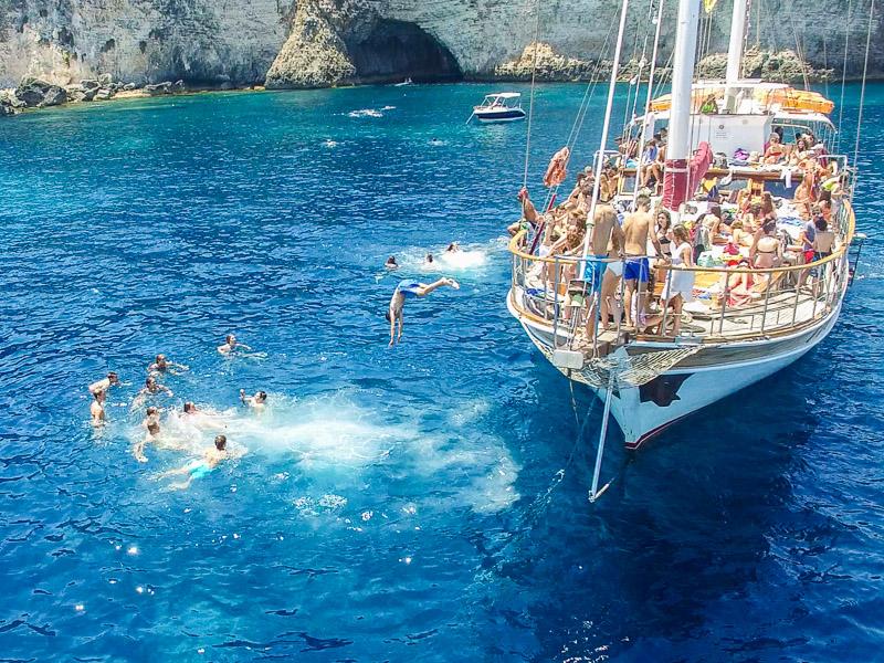 Malta Boat Trips With Maltalingua Language Students