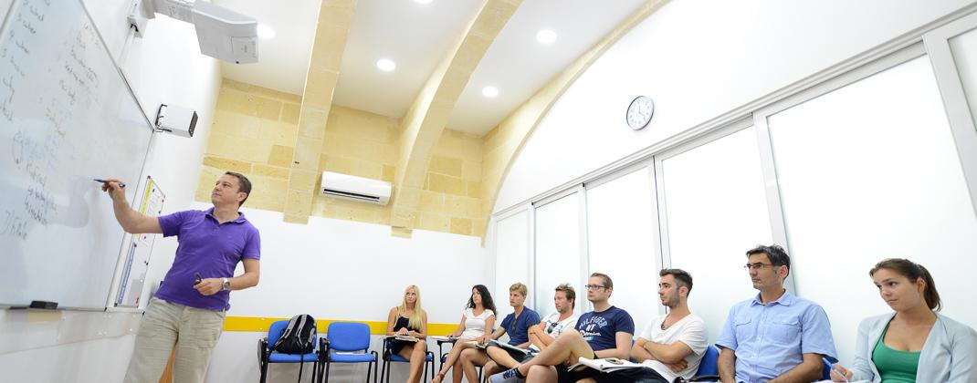 Modern Classroom Facilities ~ Facilities maltalingua language school roof terrace