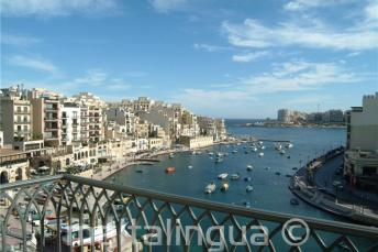 The view of Spinola Bay form the Hotel Juliani