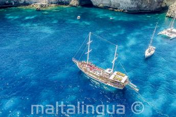 School boat trip to Crystal Bay, Malta