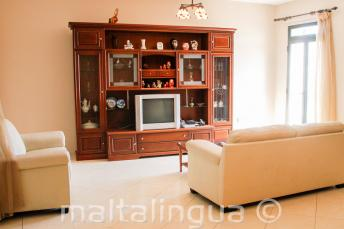 Living room of a Maltese host family