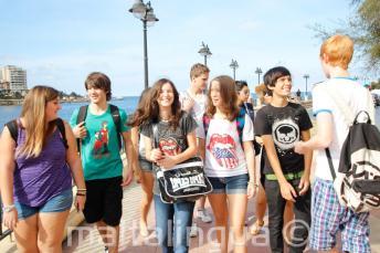 Junior student walking together