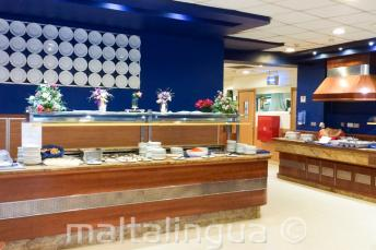 Buffet dining area of the junior school residence