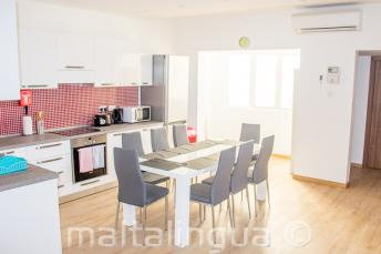 School apartment kitchen dining room