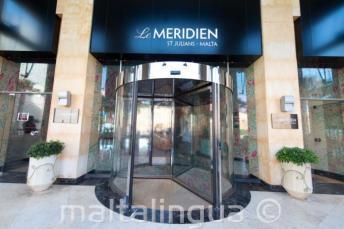 Entrance of Le Meridien hotel in St Julians