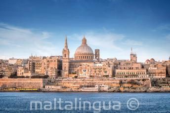 View of Valletta from teh Sliema Ferry