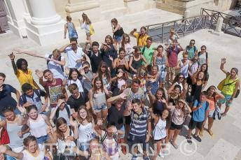 Group of students in Valletta