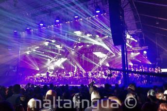 Rockestra rock symphony concert in Malta