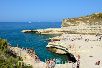 Vista of St Peters Pool, Malta