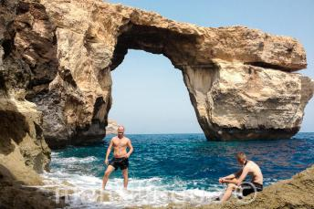 A language school trip to the Azure Window