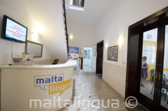 Malta English language school reception