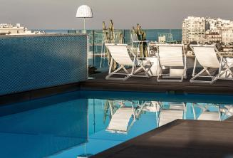 Rootop swimming pool with bar, Malta