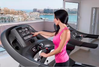 Fitness suite with gym equipment in St Julians