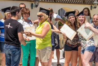 At the end of their English course in Malta students receive a certificate