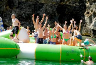 School students at a water park in Malta