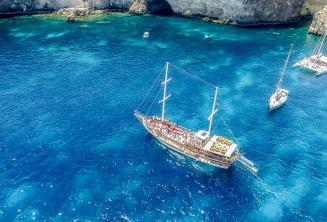 School boat trip to Crystal Bay, Malta