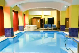 The indoor pool at our junior school residence