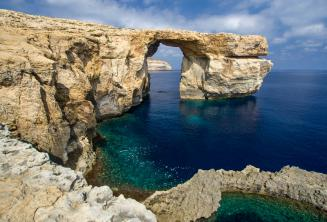 View of the Azure Window on Gozo