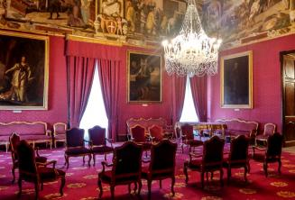 A state room in palace in Valletta
