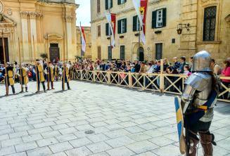 Historic battle re-enactment at Medieval Mdina