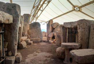 The prehistoric temples at Ħaġar Qim