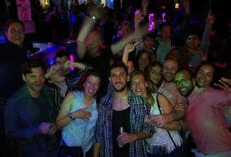 A group of English school staff and students clubbing in Paceville