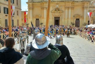 Battle re-enactment at Medieval Mdina