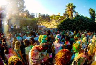 Holi colour party in Malta