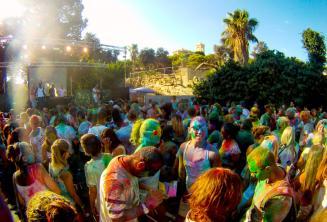 Holi colour party in Malta