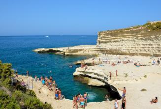 Vista of St Peters Pool, Malta